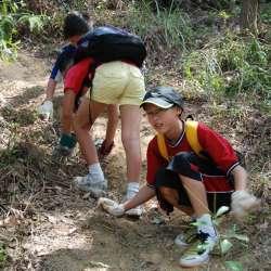 Volunteers helping with the Effort